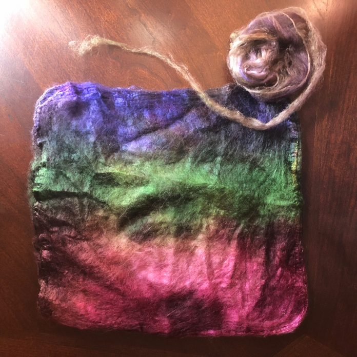 Dyed Silk Hankies using Country Classics Dye
